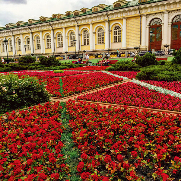 Bordering the walls of the Kremlin, the Alexander Garden is a beautiful place for a stroll in the heart of Moscow