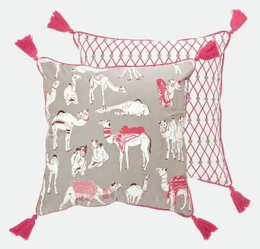 Pushkar Camel Fair cushion by Safomasi