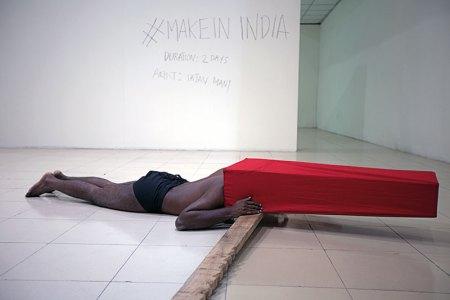 #MakeinIndia, Live performance, Duration 8 hours, 4 hours each day, Dhaka Art Summit 2016, Dhaka, Bangladesh