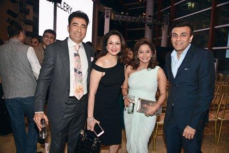 Sanjay and Ina Arora, Roopa and Haresh Fabiani
