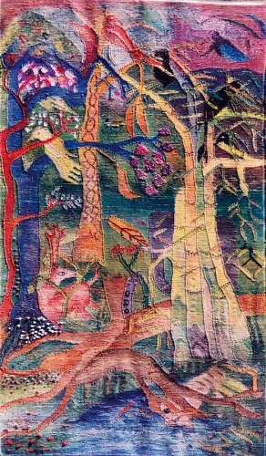 Untitled (hand-woven cotton tapestry) ±— this artwork was exhibited at the International Tapestry Triennial, Lodz, Poland 1995