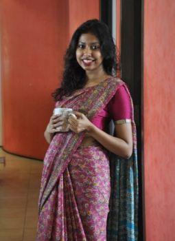 Saumya Sinha in her mother's sari
