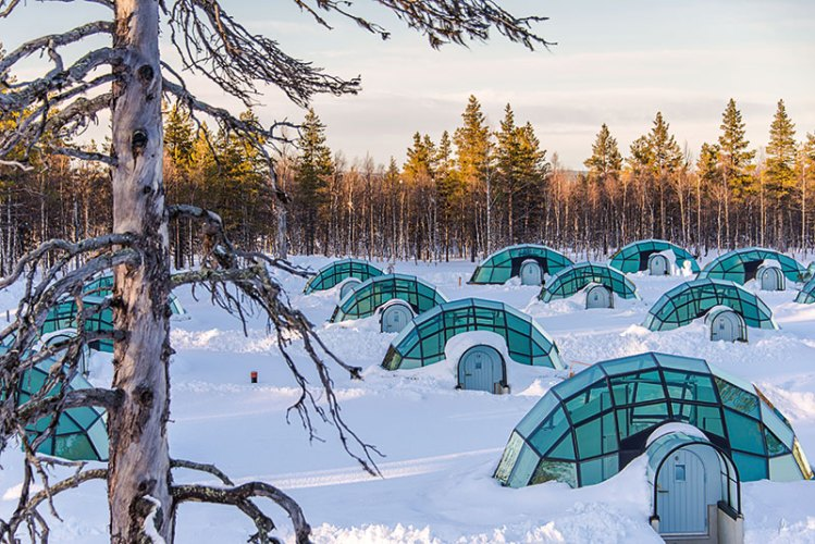 Glass Igloos At the Arctic Circle