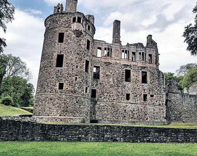 The historic Huntly Castle makes a great pitstop on the whisky trail