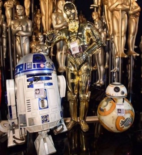 Our favourite droids at the Oscars rehearsals