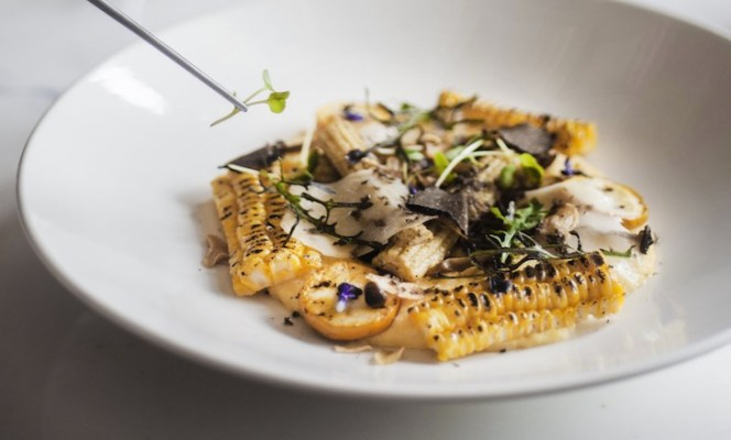 Truffle-infused charred corn polenta