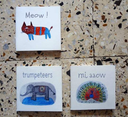 Mini-zines made by the kids from Dharavi Art Room