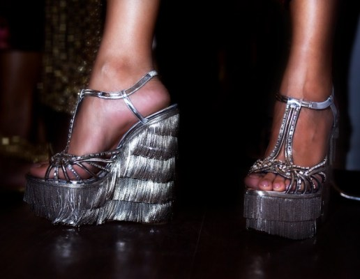 Wedges from the Christian Louboutin x Sabyasachi collection
