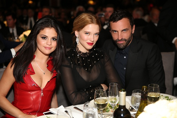 Selena Gomez, Lea Seydoux, Nicolas Ghesquiere at the LV UNICEF Ball in Los Angeles