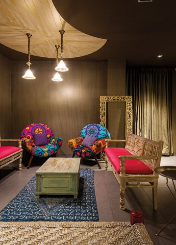 Interiors of a Private Villa in Jaipur. Designed by Shantanu Garg