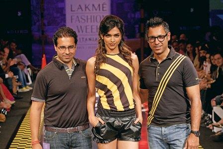 With Deepika Padukone at their first Adidas range show