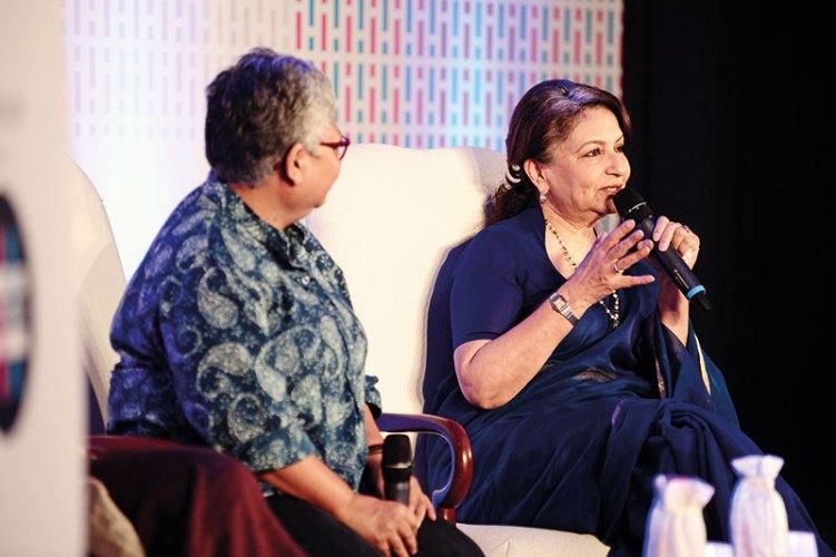 Professor Shohini Ghosh and Sharmila Tagore at The Bridge