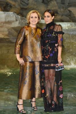 Silvia Venturini Fendi and Delfina Delettrez Fendi