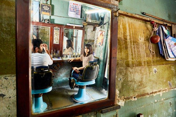 Simin Patel and Hashim Badani at Gamdevi Hair Cutting Salon