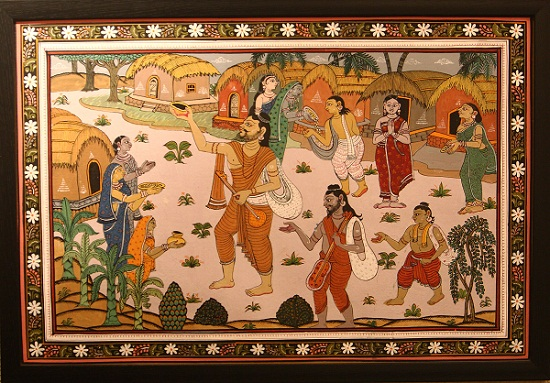 Singing Jogi, Patachitra from Odisha