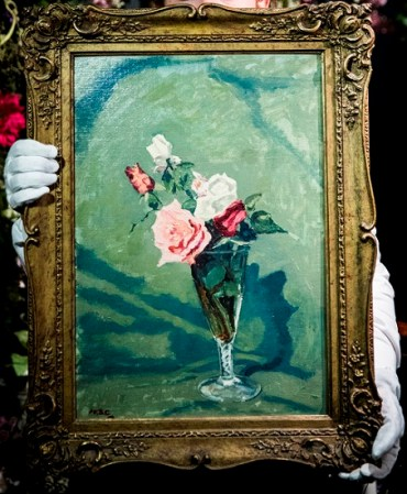 Sir Winston Churchill, Roses in a Glass Vase, Estimate £70,000-100,000