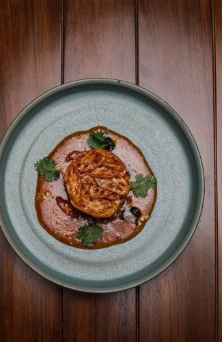 Sliced Potato with Malay Sambal Crisp Lotus Stems