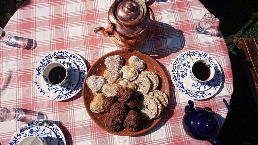 Snacks (including the famous Vanilla hearts) at Flickorna Lundgren, Skåne County