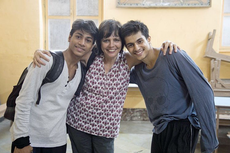 Sooni Taraporevala with Amir and Manish