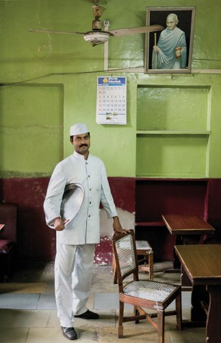 Mr Sri Kumar, a waiter. The Indian Coffee House, Jaipur