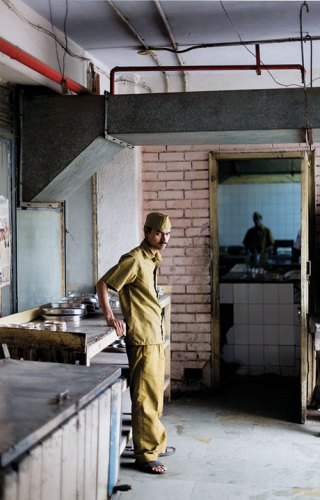 Waiter Brij Nandan Yadav. The Indian Coffee House, New Delhi