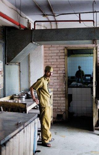 Waiter Brij Nandan Yadav. The Indian Coffee House, New Delhi