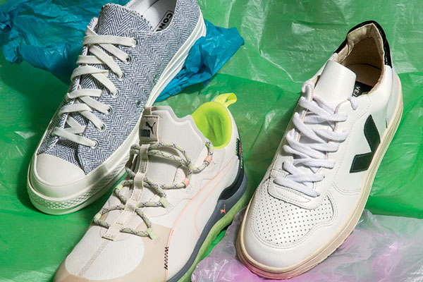 Sneakers from Converse, Puma and Veja. (Veja is exclusively available at VegNonVeg stores in India.)