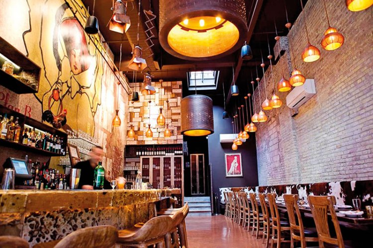 Interiors of the Plan B Spanish Tapas Bar. Designed by Sumessh Menon