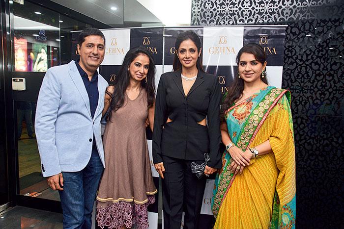 Sunil and Kiran Datwani, Sridevi, Shaina NC