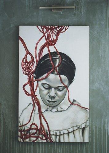 Painting by Kahini Arte Merchant, Tehzeeb's mother