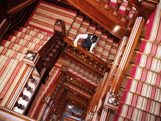 Stairwell at the Connaught