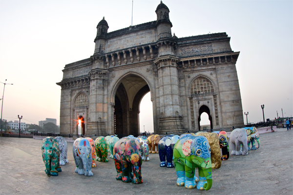 The Elephant Parade at Gateway of India