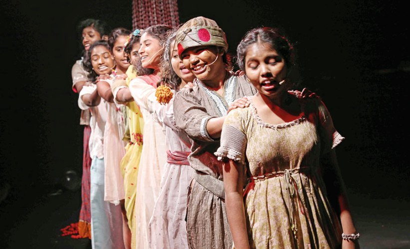 The Kranti girls in the midst of their Lakmé Fashion Week performance
