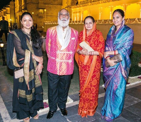 Padmaja Kumari Parmar, Arvind Singh Mewar, Vijayaraj Kumari Mewar, Nivritti Kumari Mewar