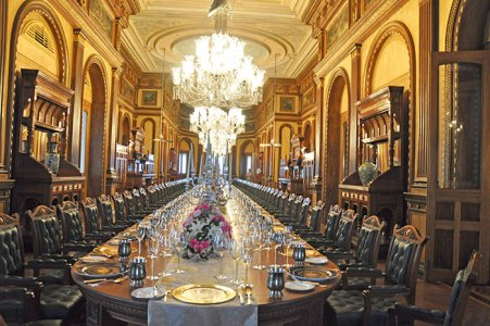 Extravagant dining experience at the world's longest table