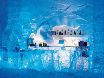 Getting cosy in an Ice Hotel