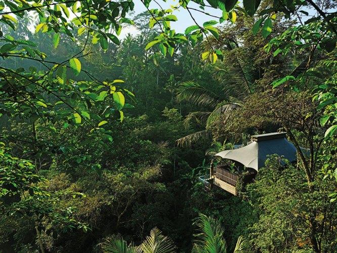 One of Capella's 23 tented villas