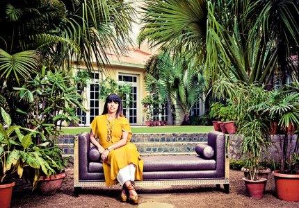 Urvashi Kaur: in her green retreat