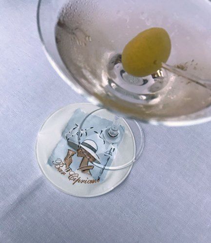 Martini moment at the Bar Cipriani