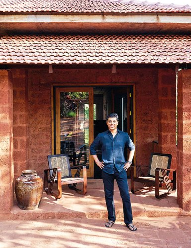 Vikram Goyal at the Goa property he completed a few months ago