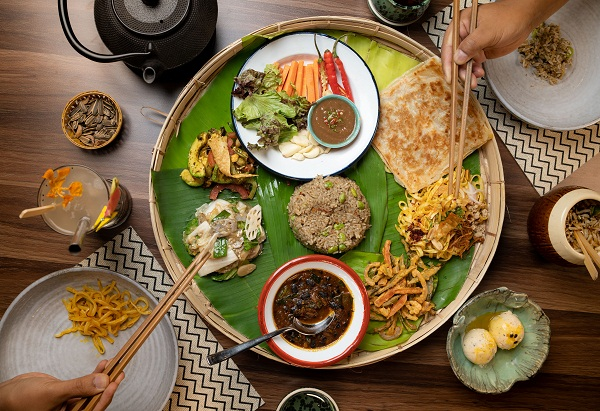 Food platter at Burma Burma, Mumbai