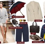 monsoon men menswear fashion rainwear shorts Burberry Corneliani umbrella Ferragamo Tod's