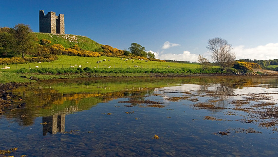 Walder Freys Castle on Strangford Lough Shoreline