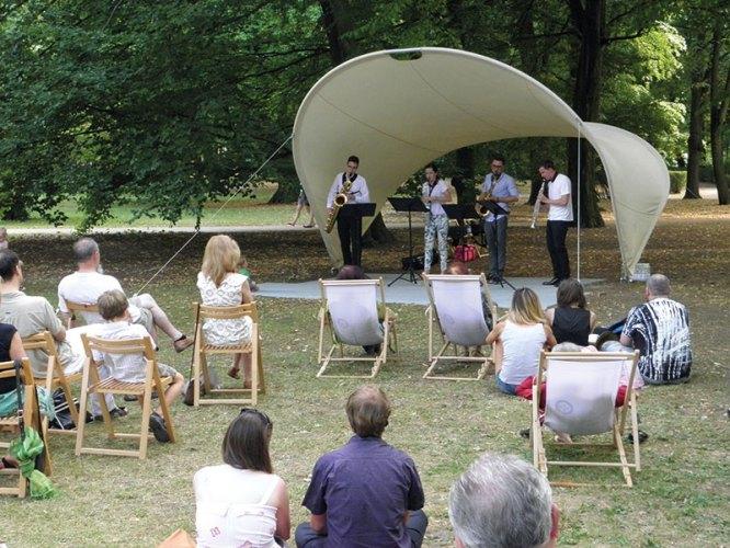 A free concert at Lazienki Park