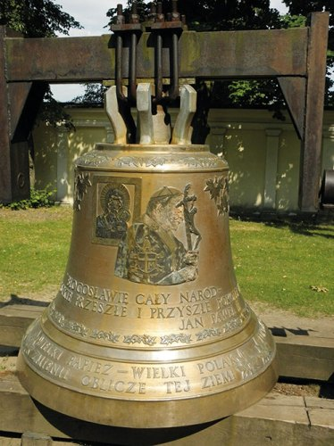 An intricately adorned church bell