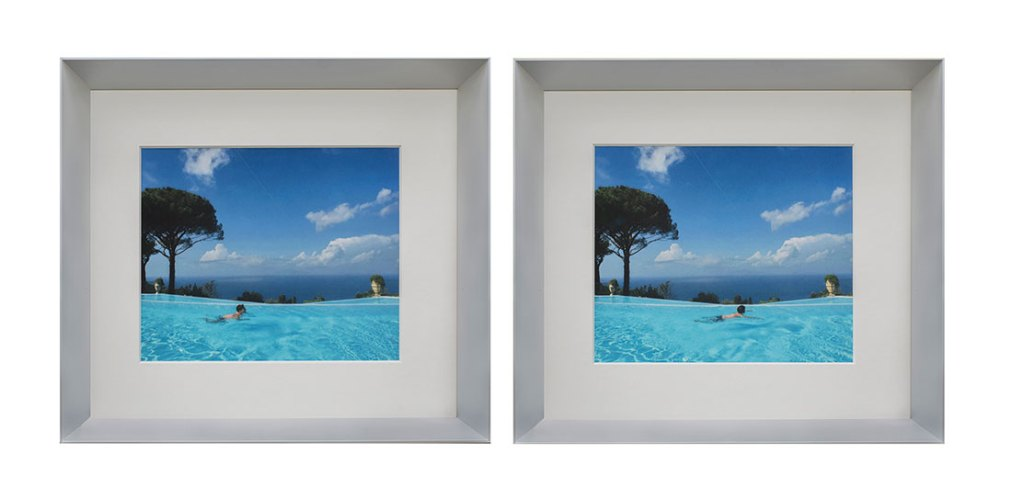 The brea(d)th of life is a measure of time, 2016, framed diptych photograph, 13.5 x 15 x 2.2 in