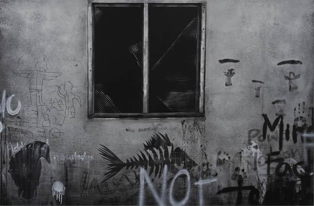 Window 1 (Graffiti series), 2015