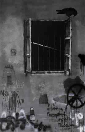 Window 3 (Graffiti series), 2015