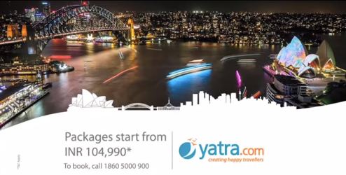 Still from the Yatra.com ad