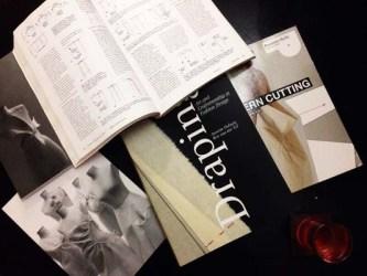 Light read in the dark. #patternmaking #drapingesentials (Image by Alan Kaleekal)